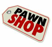 Pawn Shop words on a price tag — Stock Photo