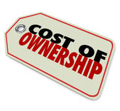 Cost of Ownership words on a price tag — Stock Photo