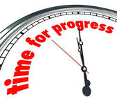 Time for Progress words on a clock — Stock Photo