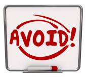 Avoid word written and circled on a dry erase board — Stock Photo