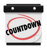 Countdown word circled on calendar to remind you of time coming for anticipation — Stock Photo