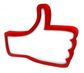 Red Thumbs Up Icon — Stock Photo