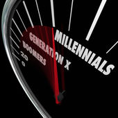 Millennials Generation X Baby Boomers — Stock Photo