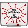 The Internet of Things in a diagram on dry erase board — Stock Photo #74958443