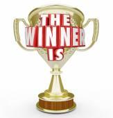 The Winner Is Gold Trophy — Stock fotografie