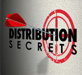 Distribution Secrets Arrow Target — Stock Photo