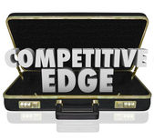 Competitive Edge 3d words in a black leather briefcase — Stock Photo