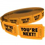 Estás palabras próximas en boletos en un rollo — Foto de Stock   #75582681