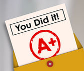 You Did It words on a report card — Stock Photo
