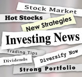 Investing News Headlines — Stock Photo