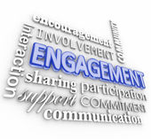 Engagment word in 3d letters — Stock Photo