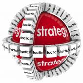 Strategy and tactics to achieve success — Stock Photo