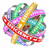 Efficiency ribbons cycle for good performance — Stock Photo