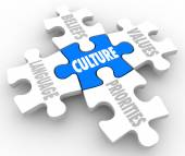 Culture Puzzle piece — Stock Photo