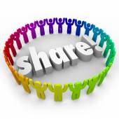 Share People Joining Together — Stock Photo