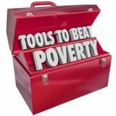 Tools to Beat Poverty — Stock Photo