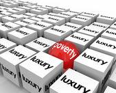 Poverty Vs Luxury Poor — Stock Photo