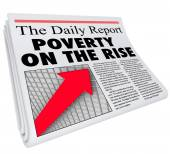 Poverty on the Rise Newspape — Stock Photo