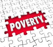 Poverty Puzzle Hole — Stock Photo