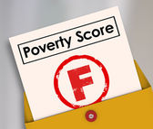 Poverty Score F Grade — Stock Photo