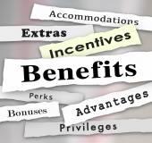 Benefits Incentives Bonuses — Stock Photo