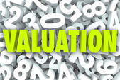 Valuation 3d Word — Stock Photo