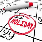 Holiday Calendar Day Date — Stock Photo