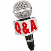 Q and A Microphone Interview — Stock Photo