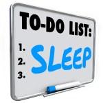 Sleep To Do List Remember — Stock Photo #79187716