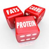 Fats Carbs Proteins — Stock Photo