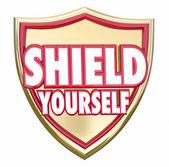Shield Yourself Precaution — Stock Photo