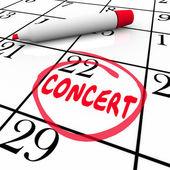 Concert Calendar Reminder — Stockfoto