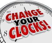 Change Your Clocks Set — Stok fotoğraf