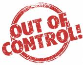 Out of Control Red   Stamp — Stock Photo