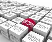 Reform Vs Status Quo Sphere — Stock Photo