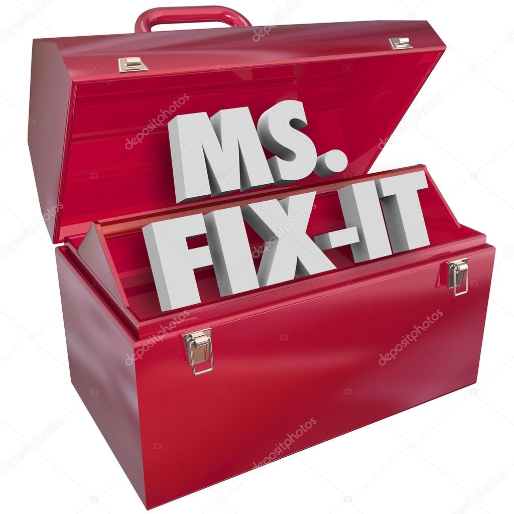 Ms Fix It Toolbox Words — Stock Photo © iqoncept #88259090