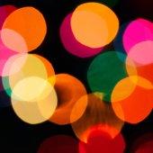 Defocused lights with bokeh modificator — Stock Photo