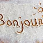 Words in flour — Stock Photo #71039377