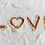 Words in flour — Stock Photo #71039415