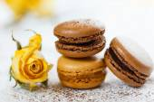 Macarons with gingerbread spices — Stock Photo