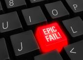 Epic Fail In Technology — Stock Photo