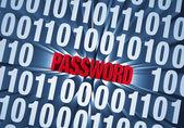Password Hidden in Computer Code — Stock Photo