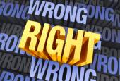What's Right Emerges — Stock Photo