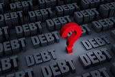 Worried About Rising Debt — Stock Photo