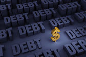 Surrounded By Rising Debt — Stock Photo