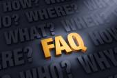 The FAQ — Stock Photo