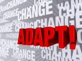Adapt Against A Background Of Change — Stock Photo