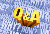 Question And Answer Time — Stock Photo