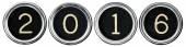 Vintage New Year 2016 Keys — Stock Photo
