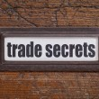 Постер, плакат: Trade secrets label
